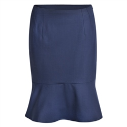 Magee 1866 Navy Petula Geometric Skirt