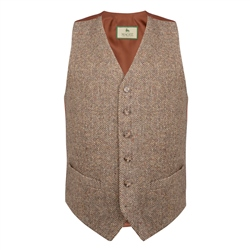 Magee 1866 Brown Salt & Pepper Donegal Tweed Classic Fit Waistcoat
