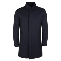 Magee 1866 Navy Delvin Classic Fit Mac Raincoat