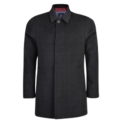 Black & Charcoal Edergole Checked Coat