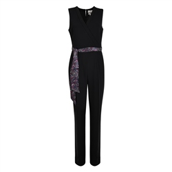 Magee 1866 Black Jade Tailored Fit Jumpsuit