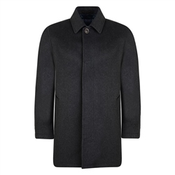 Charcoal Wool & Cashmere Edergole Coat