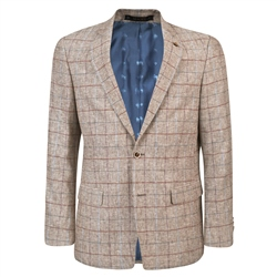 Magee 1866 Oat Linen Checked Classic Fit Jacket