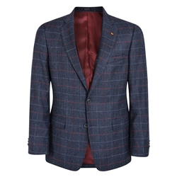 Blue Check Donegal Tweed Classic Fit Jacket