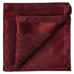 Magee 1866 Burgundy M Design Silk Jacquard Pocket Square