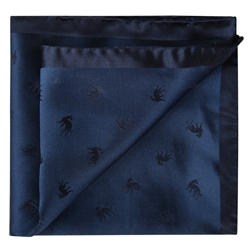 Magee 1866 Navy Wolfhound Silk Jacquard Pocket Square
