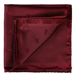 Magee 1866 Burgundy Wolfhound Silk Jacquard Pocket Square