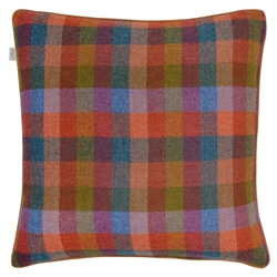 "Magee 1866 18"" Multicoloured Check Donegal Tweed Cushion"