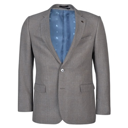 Magee 1866 Oat & Blue Basket Weave Classic Fit Blazer