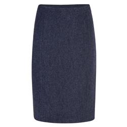Magee 1866 Navy Micro-Design Donegal Tweed Skirt