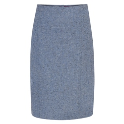 Magee 1866 Pale Blue Salt & Pepper Donegal Tweed Skirt