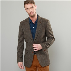 Magee 1866 Green & Brown Handwoven Donegal Tweed Classic Fit Blazer