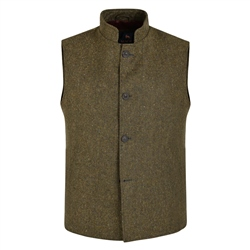 Magee 1866 Green Salt & Pepper Donegal Tweed Gilet