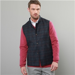 Magee 1866 Blue Check Donegal Tweed Gilet