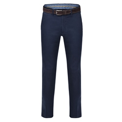 Magee 1866 Navy Callan Washed Tailored Fit Trousers