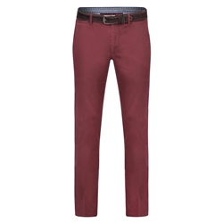 Magee 1866 Maroon Callan Washed Tailored Fit Trousers