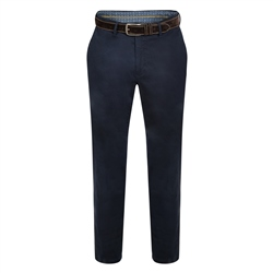 Navy Dungloe Washed Look Classic Fit Trouser
