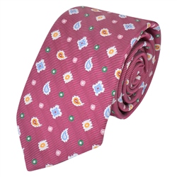 Magee 1866 Pink Teardrop, Diamond & Spotted Silk Tie