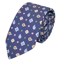 Blue Teardrop, Diamond & Spotted Silk Tie