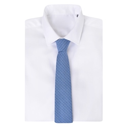Blue Spotted Woven Tie