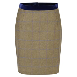 Magee 1866 Green Carey Country Check Tweed Tailored Fit Skirt