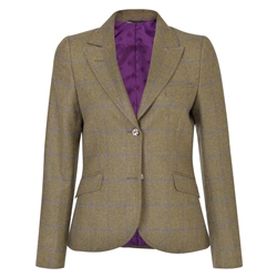 Magee 1866 Green Lily Country Check Tweed Tailored Fit Jacket