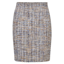 Magee 1866 Oat, Blue & Gold Carey Skirt
