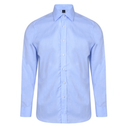 Magee 1866 Blue Altahan Jacquard Classic Fit Shirt
