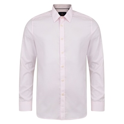 Magee 1866 Pink Altahan Jacquard Classic Fit Shirt