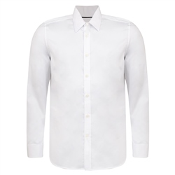 Magee 1866 White Ardbane Double Cuff Tailored Fit Shirt