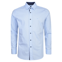 Magee 1866 Blue Balbane Concealed Button Down Classic Fit Shirt