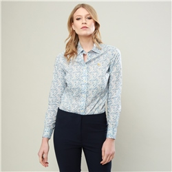 Magee 1866 Baby Blue Hannah Mitsi Valeria Liberty Print Classic Fit Shirt