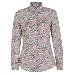 Magee 1866 Lilac Hannah Shepherdly Song Liberty Print Classic Fit Shirt
