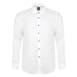 Magee 1866 Ivory Kilbeg Washed Irish Linen Classic Fit Shirt