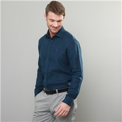 Magee 1866 Indigo Kilbeg Washed Irish Linen Classic Fit Shirt