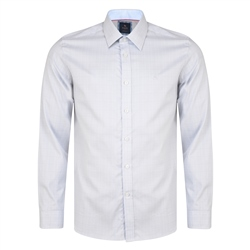 Magee 1866 Grey Lisnaree Gridcheck Tailored Fit Shirt