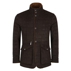 Magee 1866 Brown Glenveigh Quilted Classic Fit Jacket