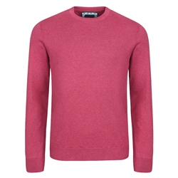Magee 1866 Fuchsia Carn Cotton Crew Neck Jumper