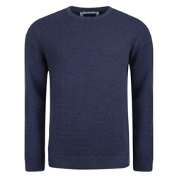 Magee 1866 Navy Faugher Ribbed Structure Crew Jumper