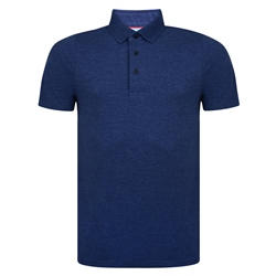 Magee 1866 Navy Marfagh Pique Classic Fit Polo Shirt
