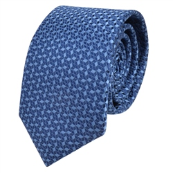Magee 1866 Blue Geometric Design Tie