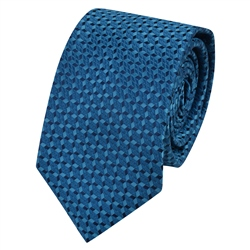 Magee 1866 Teal Geometric Design Tie