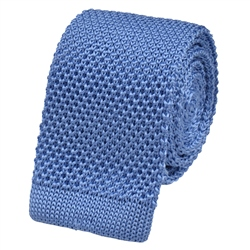 Magee 1866 Sky Blue Knitted Silk Tie