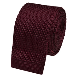 Magee 1866 Burgundy Knitted Silk Tie