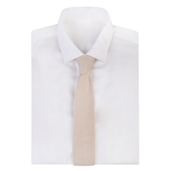 Ivory Knitted Silk Tie