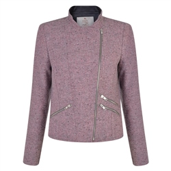 Pink Ards Biker Donegal Tweed Jacket