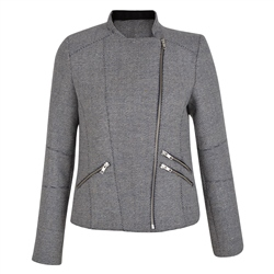 Stone & Navy Ards Biker Donegal Tweed Jacket