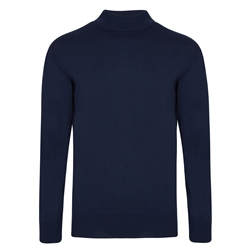 Magee 1866 Navy Turtle Neck Sweater