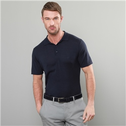 Magee 1866 Navy Kiltoy Knitted Classic Fit Polo Shirt