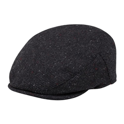 Magee 1866 Charcoal Flecked Donegal Tweed Flat Cap